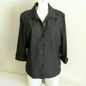 Koret Women's Lined Jacket Blazer Black & White Gr